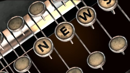 news typewriter