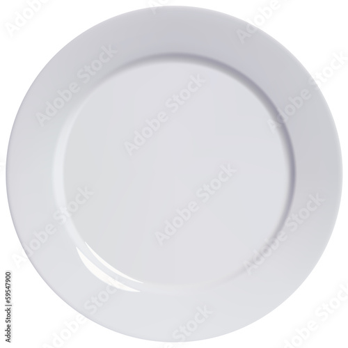 Plate empty, isolated. Vector illustration