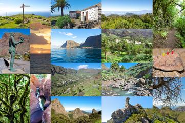 Foto Collage von der Insel La Gomera