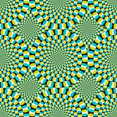 Endlos Muster Optische Täuschung