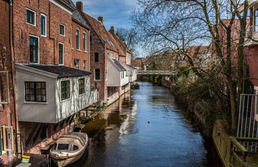 Hanging kitchens in the old center of Appingedam