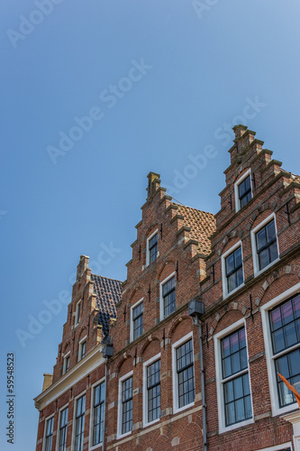 Facades in the old center of Dokkum