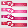 Set of Valentines infographics