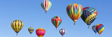 Hot air balloons panorama