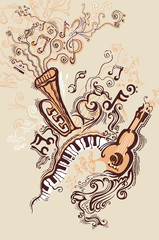 Fantasy illustration on a musical theme.