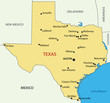 Texas - vector map