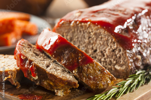 Fotobehang Vlees Homemade Ground Beef Meatloaf