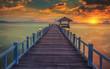 Fototapeta Plaża - Most - Dziki pejzaż