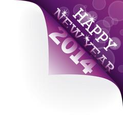Ecke violett Happy New Year