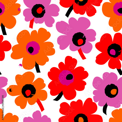 floral seamless pattern background, with splashes