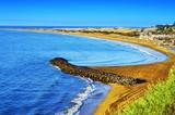 Playa del Ingles beach and Maspalomas Dunes, Gran Canaria, Spain