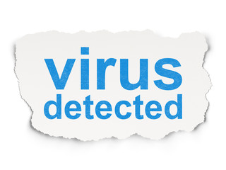 Privacy concept: Virus Detected on Paper background