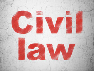 Law concept: Civil Law on wall background