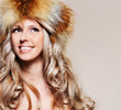 Girl in fur hat