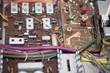 Leinwanddruck Bild - Old eclectronic circuit