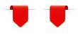 Roter Sticker Pfeil mit Schatten und Textfreiraum, 2 Varianten