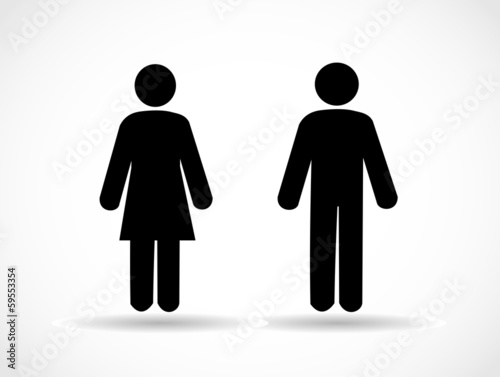 Woman and man icons vector