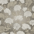 Floral Pattern. Background With Chrysanthemum.