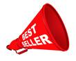 Постер, плакат: Best seller продаваемый лучше всех Рупор с надписью