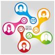 Social Media Connection - vector 1