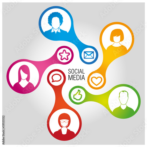 Social Media Connection - vector 1