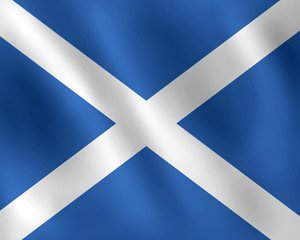 Scotland waving flag illustration