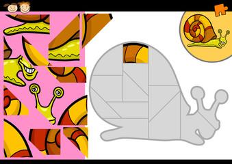 cartoon snail jigsaw puzzle game