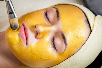 Gold facial mask