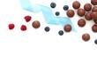 Chocolate praline and fresh berries