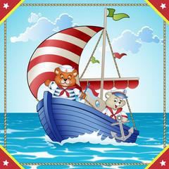 Ursos navegando