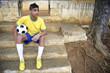 Young Brazilian Soccer Football Player