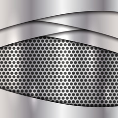 Vector metallic silver cell background