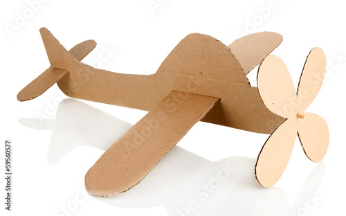 Toy airplane isolated on white