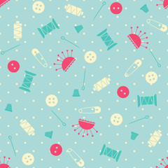 Seamless vector sewing pattern