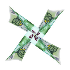 symbol of the moving the money