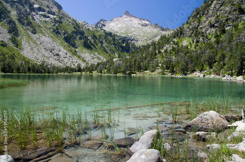 Lake in the summer Pyrenees