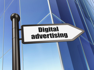 Advertising concept: sign Digital Advertising on Building