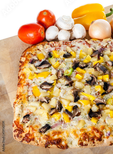 Homemade Pizza With Assorted Toppings