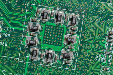 microchip integrated on motherboard
