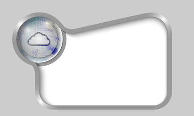 silver text box for any text with transparent cloud icon