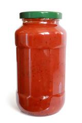 Tomato sauce in glass jar