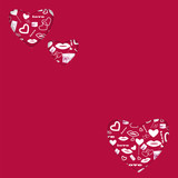 background for Valentine's Day.hearts of different sizes with a