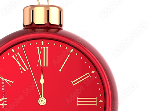 New Years Eve alarm clock countdown bauble