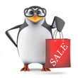 Academic penguin has been to the sales