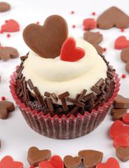 cupcake cuori e cioccolato
