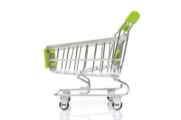 Grüner Einkaufswagen