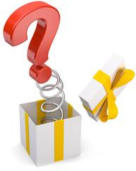 Geschenk Fragezeichen