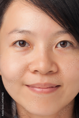 Woman face with natural look