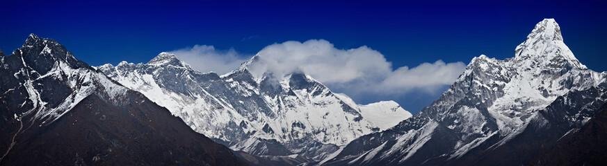 Nepalese Himalayas: Khumbila,Nuptse,Everest,Lhotse,Ama Dablam