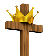 3D Cross and Crown